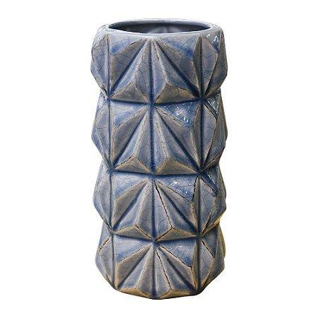 Vaso Moriah Azul em Cerâmica YK-25 B