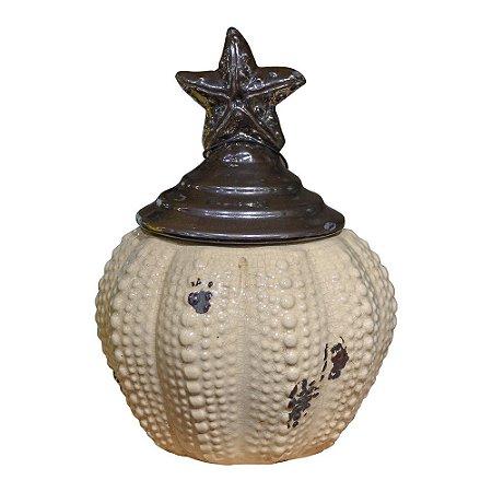 Vaso Estrela em Cerâmica YL-13