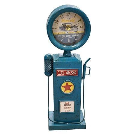 Relógio Bomba Azul em Metal YL-60 B