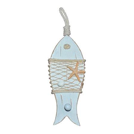 Peixe Branco com Estrela em Madeira YM-16 B