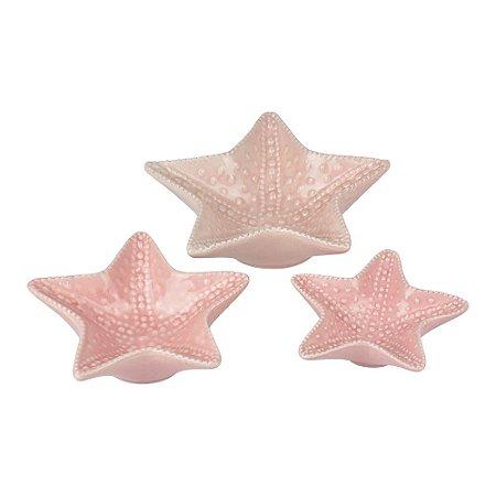 Jogo Estrela do Mar Branca de Cerâmica YD-76 C