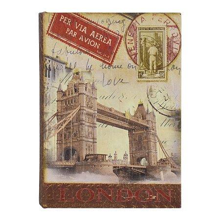 Porta Objetos Livro London DX-08 B