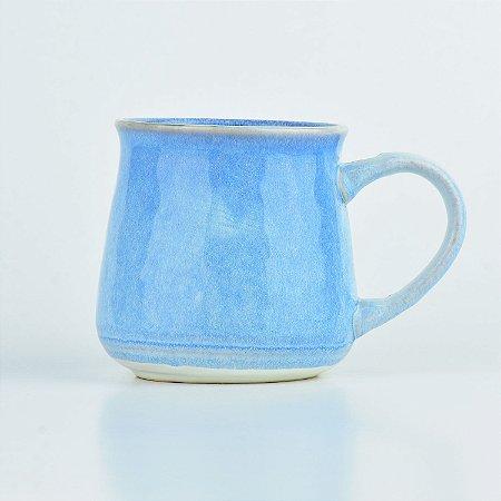 Caneca Glazura Azul Claro em Cerâmica YM-39 B