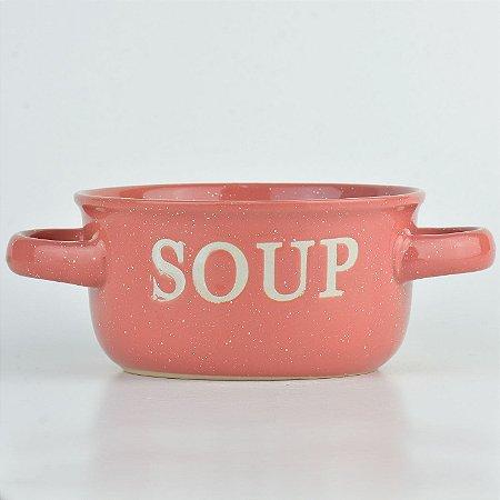 Tigela Soup Rosa em Cerâmica YN-43 C
