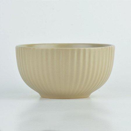 Tigela Texturizada Bege em Cerâmica YN-52 A