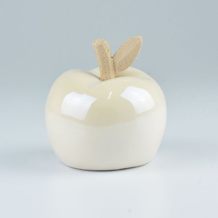 Enfeite Tropical Maçã Branca em Cerâmica YK-15 C