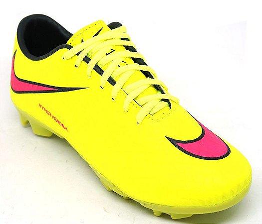 a3f387e56b Chuteira Campo Nike Hypervenom Phelon II Amarelo - LEÃO PRODUTOS