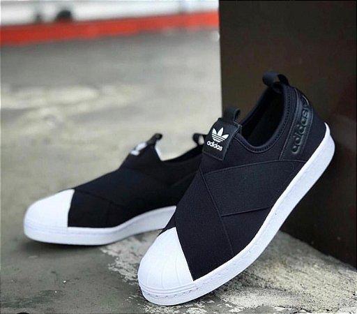 reliable quality buy new lower prices Tênis Adidas Super Star Feminino Slip On