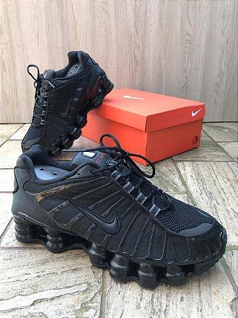 Tênis Nike Shox Tl1 2019 Trible Black 12 Molas Unissex Masculino Feminino