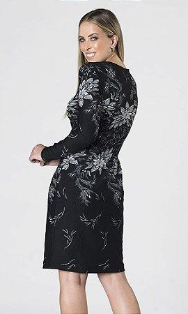 Vestido Jacard Floral