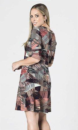 Vestido de Viscolycra Xadrez