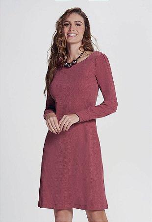 Vestido Evasé em Malha Texturizada
