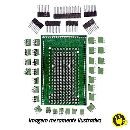 Placa Borne Shield para Arduino Mega