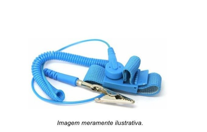 Pulseira Antiestática ESD Garra Jacaré 35mm