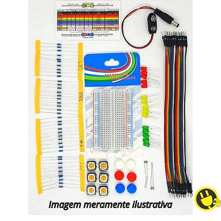 Kit Componentes e Acessórios FK1 para Arduino - Raspberry Pi