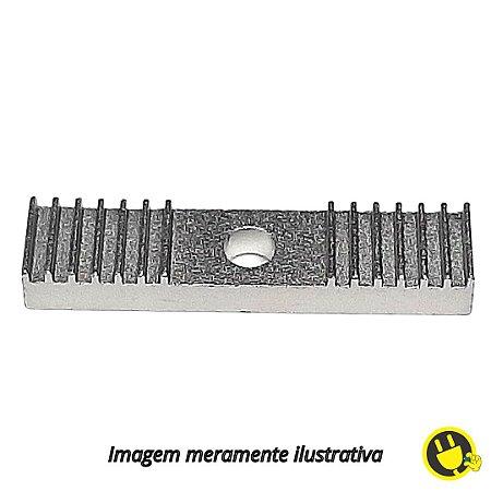 Fixador Emenda em Aluminio 2mm 9x40mm p/ Correia GT2