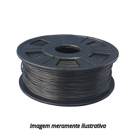 FIlamento PLA 1,75mm 500g preto para impressora 3D
