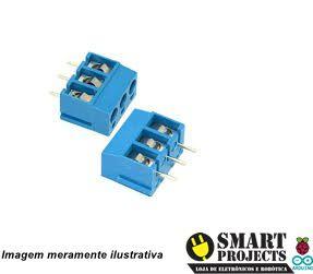 Conector borne KRE 3 vias azul 16A