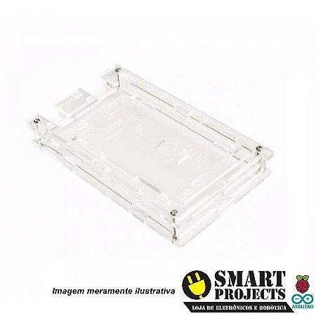 Case Acrílico Transparente Parafusável p/ Arduino Mega 2560