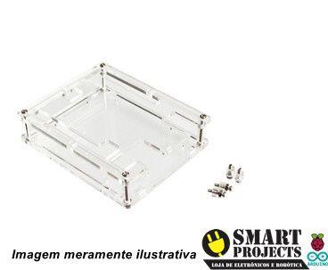 Case acrílico transparente parafusável para Arduino Uno