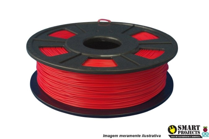 FIlamento PLA 1,75mm 1kg Vermelho para impressora 3D