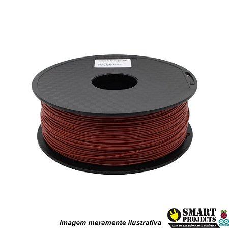 FIlamento PLA 1,75mm 1kg marrom para impressora 3D