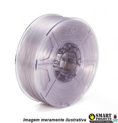 FIlamento TPU Flexível 1,75mm 500g transparente para impressora 3D
