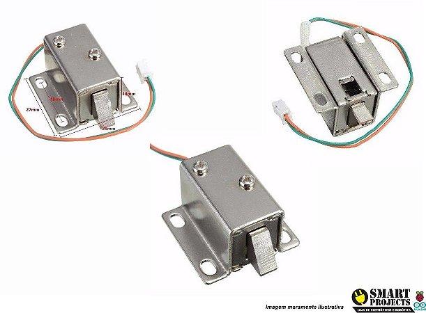 Mini Fechadura Solenóide Eletrônica Trinco Trava
