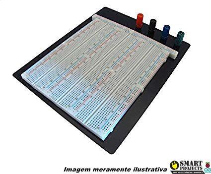 Protoboard 3220 furos com base metálica