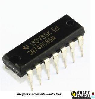 Circuito Integrado 74HC86 porta lógica XOR