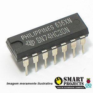 Circuito integrado 74HC30 porta lógica NAND