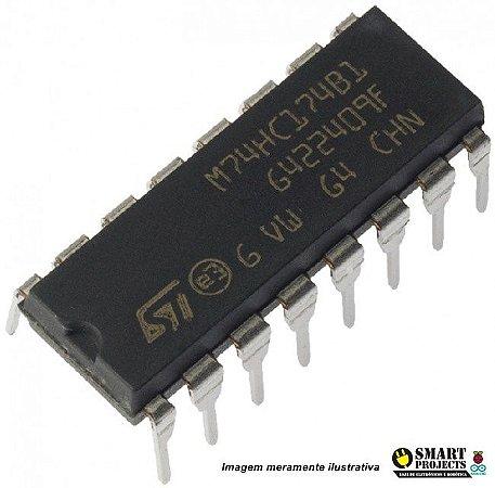 Circuito integrado 74HC174 flip flop D