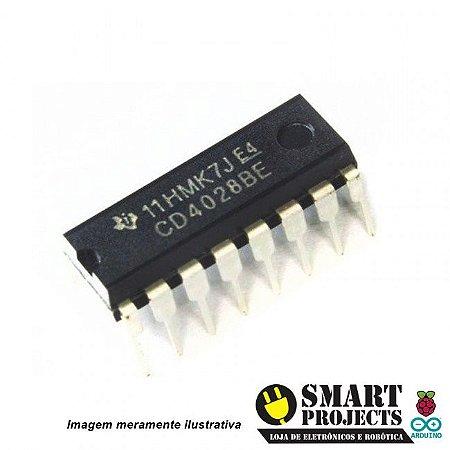 Circuito integrado CD4028 decodificador decimal