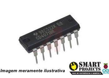 Circuito integrado CD4071 porta lógica OR