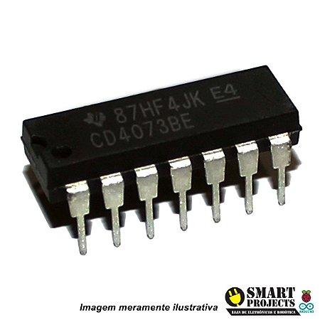 Circuito integrado CD4073 porta lógica AND