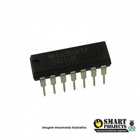 Circuito integrado CD4011 porta lógica NAND