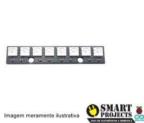 Linha de LED RGB x8 WS2812 5050