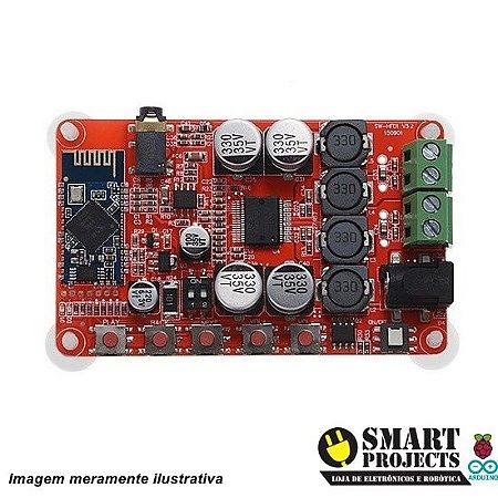 Amplificador de áudio e receptor bluetooth TDA7492P 50+50W