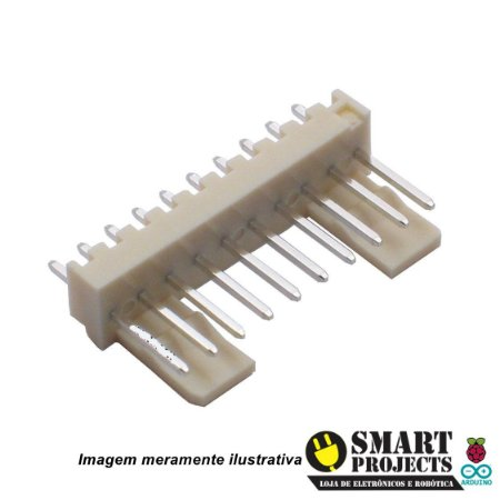 Conector 10 Vias KK 2,5mm Macho 180°