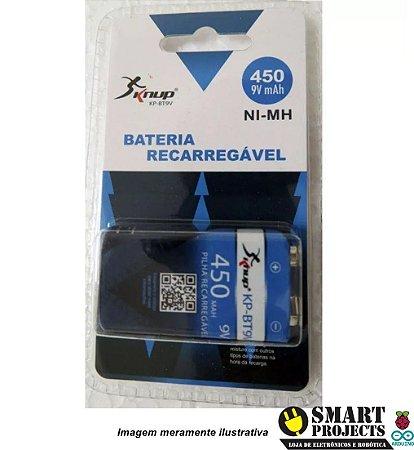 Bateria recarregável 9V 450mAh Knup