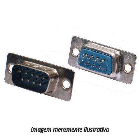 Conector DB9 Macho Solda Fio RS232 Serial Sem Capa