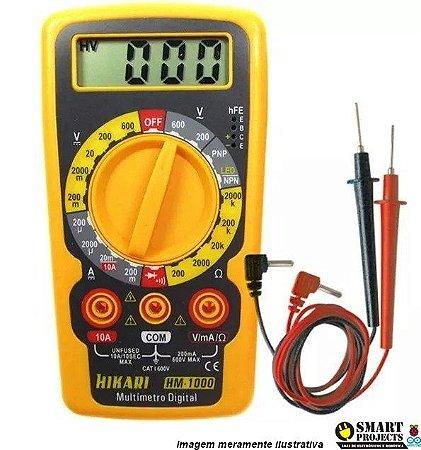 Multímetro Digital HM-1000 Hikari