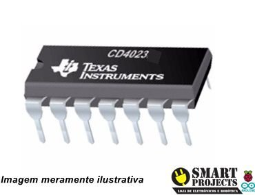 Circuito integrado CD4023 Porta NAND