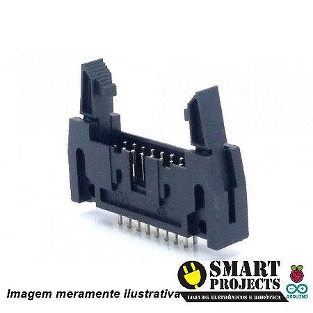 Conector Header Com Ejetor 16 Vias 180°
