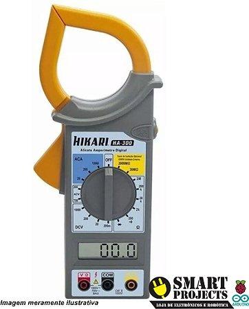 Alicate Amperimetro Hikari Ha- 300 Lcd Multímetro Digital
