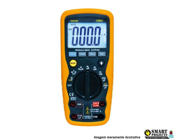 Multimetro Digital Hikari Hm-2200 A Prova D'agua
