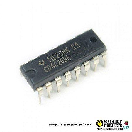 Circuito integrado CD4026 - Contador Década