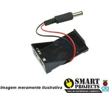 Caixa Case Suporte Bateria 9v com saída P4