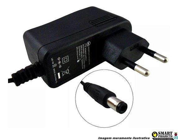 Fonte De Alimentação Carregador 9v 1a Plug P4 Arduino