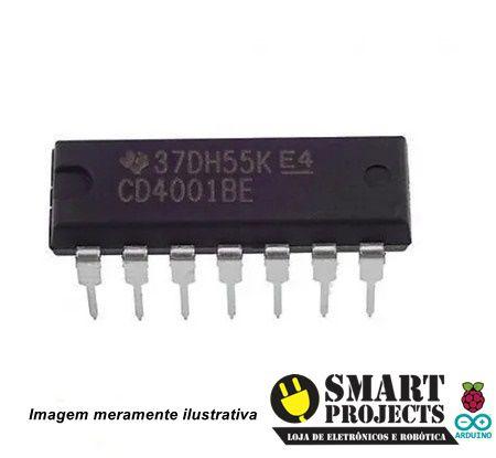 Circuito integrado CD4001 - Porta NOR